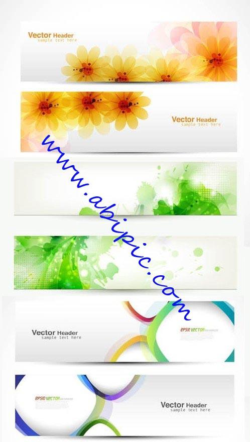 دانلود طرح وکتور بنر شماره 11 Creative Banners Vector Pack