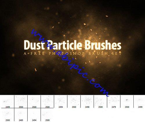 دانلود براش ساخت ذرات گرد و غبار در فتوشاپ Dust Particle Brushes set