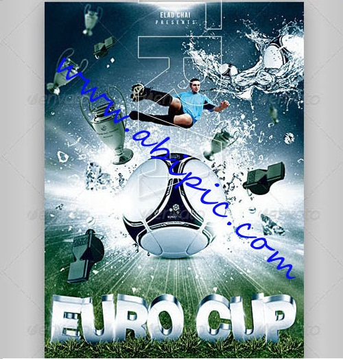 دانلود پوستر فوتبالی لایه باز جام ملت های اروپا 2012 Euro Cup Flyer