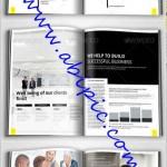دانلود وکتور و طرح ایندیزاین بروشور اداری تجاری Business Brochure