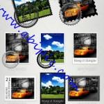دانلود طرح لایه باز ساخت تمبر و مهر Stamps And Seals PSD