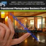 دانلود طرح لایه باز PSD کارت ویزیت شفاف