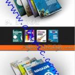 دانلود طرح وکتور جلد آماده مجله Magazine cover design vector