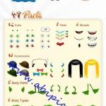دانلود مجموعه ویژه کیت های لایه باز ساخت هیولا PSD Monster Creation Kit