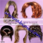 دانلود طرح لایه باز مدل مو خانم ها PSD Beautiful Hairstyles