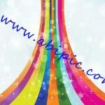 دانلود طرح وکتور رنگین کمان Rainbow Magic Vector