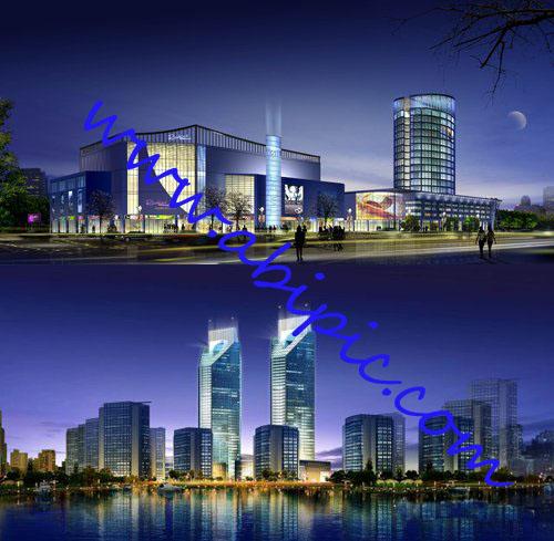 دانلود طرح لایه باز PSD شهر در شب Sources – City at night