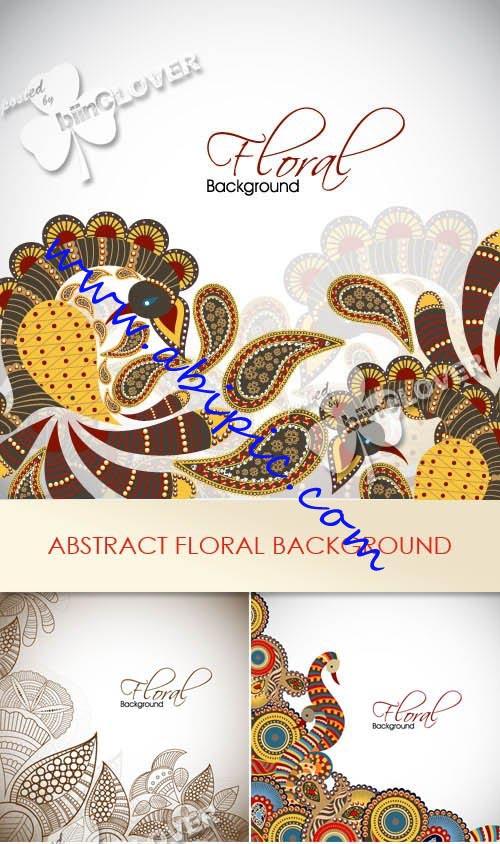 دانلود وکتور تصاویر بکگراند انتزائی Abstract floral background