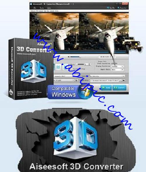 دانلود نرم افزار تبدیل فیلم های 3 بعدی Aiseesoft 3D Converter 6.3.6 Retail