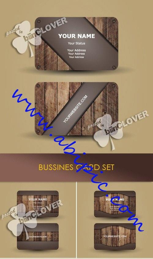 دانلود 4 وکتور کارت ویزیت با طرح چوب شماره 45