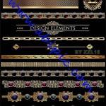 دانلود طرح وکتور کادر و حاشیه های طلایی طراحی شماره 3