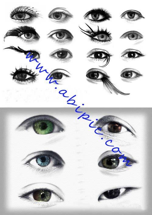 دانلود 2 براش فتوشاپ مژه و چشم Extreme Lashes Brushes