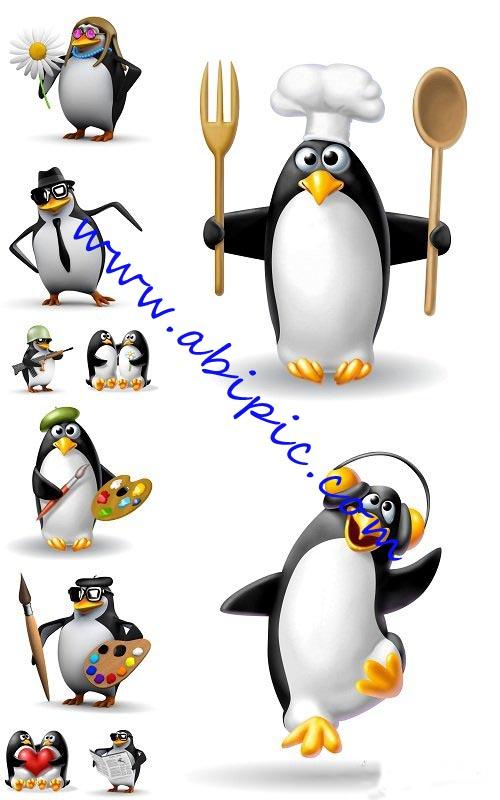 دانلود تصاویر استوک بامزه از پنگوئن ها Funny Pinguin