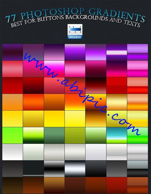 دانلود 77 گرادینت پرکاربرد فتوشاپ Gradients for Photoshop