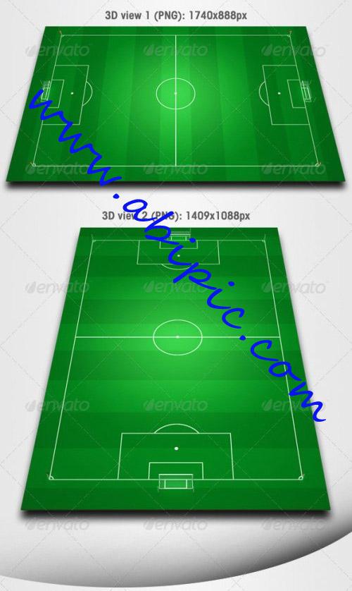 دانلود طرح لایه باز زمین فوتبال GraphicRiver Football Field