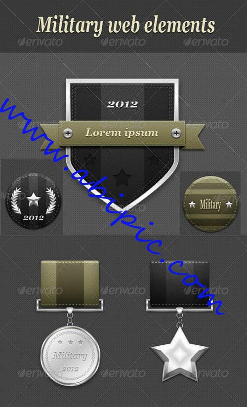 دانلود طرح لایه باز نشان و مدال های نظامی برای طراحی سایت
