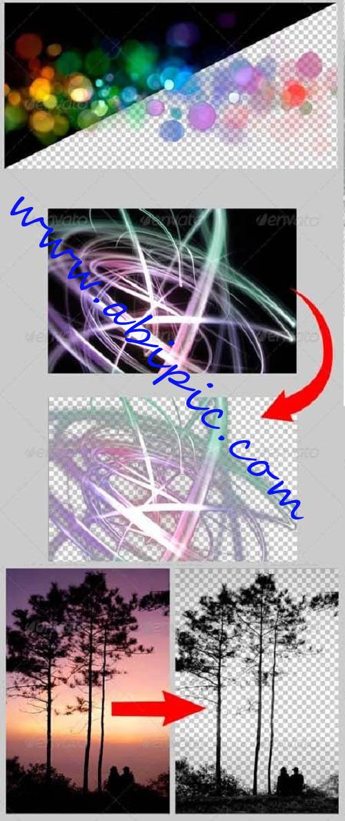 دانلود اکشن حذف و جداسازی اشیاء از پس زمینه سیاه و سفید
