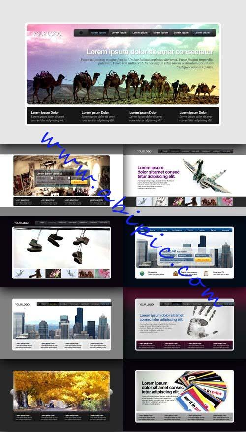 دانلود 10 هدر لایه باز حرفه ای برای طراحی سایت