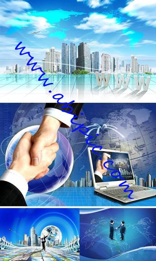 دانلود طرح های لایه باز اینترنت شریک تجاری  Internet a business partner
