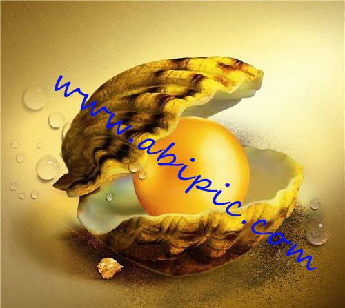 دانلود طرح لایه باز با نام مروارید طلایی PSD - Golden pearl