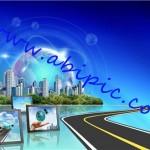 دانلود طرح لایه باز با نام جاده ای به سوی جهانی مدرن و روشن