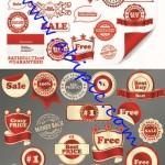 دانلود وکتور لیبل فروش و حراجی Sale & Best Price – Labels Vector