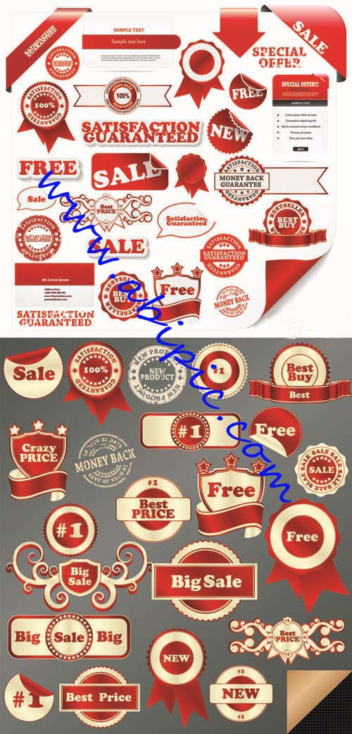 دانلود وکتور لیبل فروش و حراجی Sale & Best Price - Labels Vector