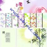 دانلود پس زمینه های لایه باز با طرح گل های تابستانی Summer floral backgrounds شماره 2