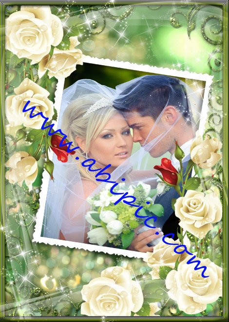 دانلود قاب عکس دیجیتال عاشقانه Wedding photo frame A love story