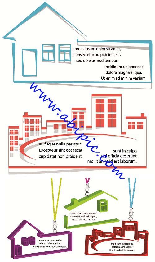 دانلود وکتور بنر و اتیکت مشاور املاک Real estate banners and tags