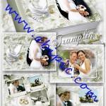 دانلود طرح لایه باز آلبوم زیبای عکس عروسی Wedding Photo Books