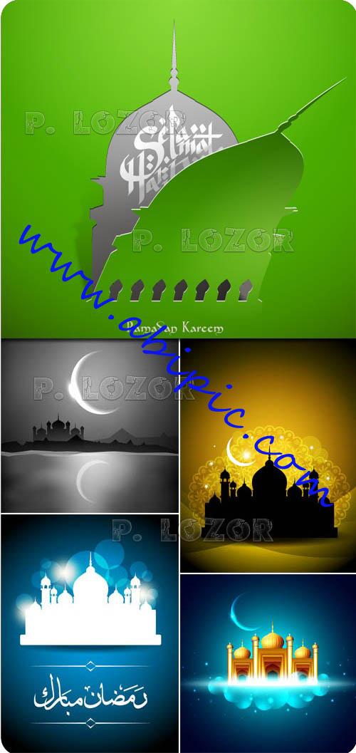 دانلود وکتور های پس زمینه ماه رمضان شماره 3