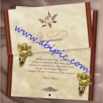 دانلود طرح لایه باز کارت عروسی به همراه فونت و وکتور مربوطه
