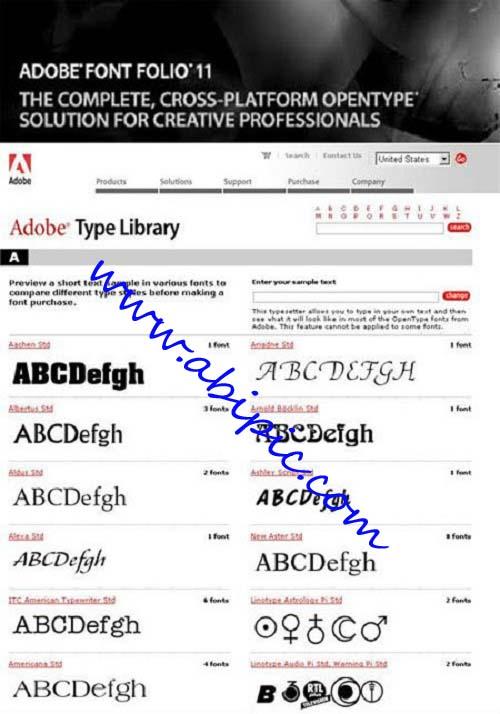 دانلود مجموعه فونت های شرکت آدوب Adobe Font Folio V11 FONT Collection