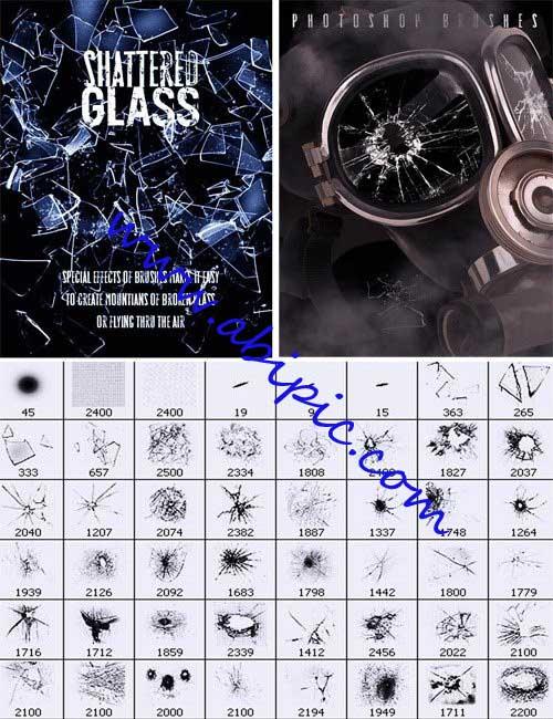 دانلود 56 براش شیشه شکسته شده Brushes Shattered Glass