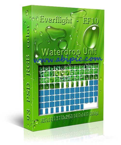 دانلود طرح لایه باز قطره آب Clipart Water drops 93 PSD