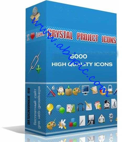 دانلود مجموعه عظیم Crystals Icon شامل 6000 آیکون با کیفیت بالا