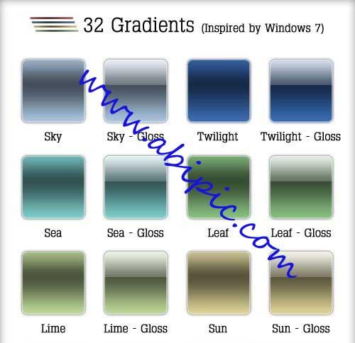 دانلود 32 گرادینت الهام گرفته از ویندوز سونGradients Windows 7