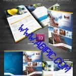 طرح ایندیزاین بروشور 4 صفحه ای Corporate & Business 4 Page Brochure