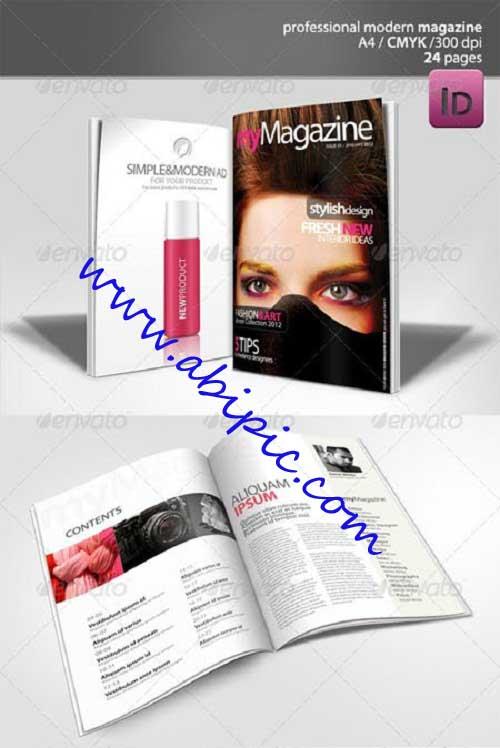 دانلود طرح ایندیزاین مجله 24 صفحه ای Modern Magazine 24 pages