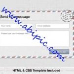 دانلود طرح لایه باز فرم تماس با ما به همراه کد CSS