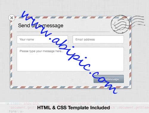 دانلود طرح لایه باز فرم تماس با ما به همراه کد HTML و CSS