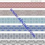 دانلود وکتور کناره و کادر های طراحی Ornamental borders Vector