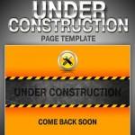 دانلود طرح لایه باز صفحه در حال ساخت Under Construction Page PSD