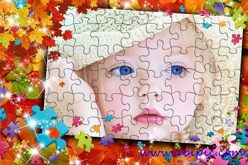 دانلود قاب عکس کودک با طرح پازل Photo frame - My puzzle شماره 13