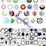 دانلود 104 شیپ آماده لوگو برای فتوشاپ Shapes 104 Logo