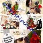 دانلود طرح لایه باز آلبوم دیجیتال عکس عروس و داماد سری جدید