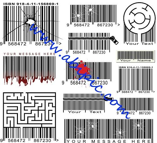 دانلود وکتور طرح های مختلف بارکد Various Barcode Vector