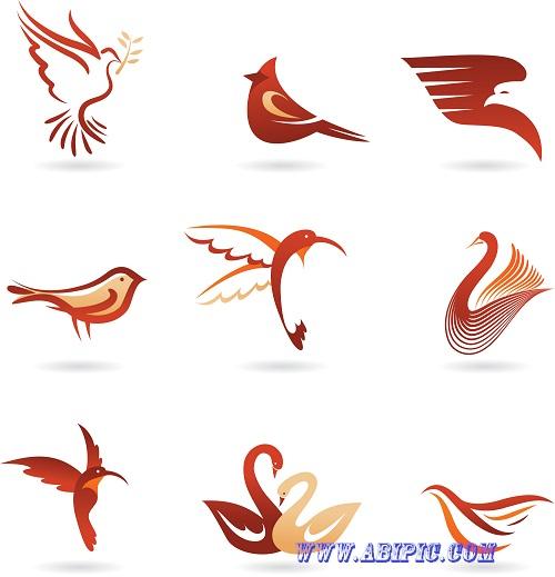 دانلود وکتور لوگو های زیبا با طرح پرنده Vivid Birds Logo Vector