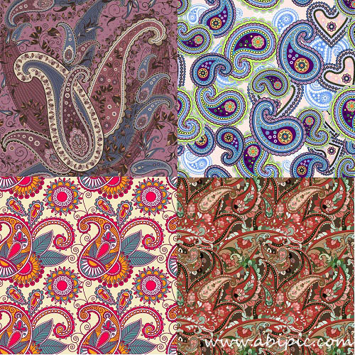 دانلود وکتور بک گراند نقوش سنتی بته جقه Paisley pattern Vector